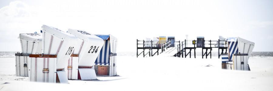 White Beach Strandkörbe #3